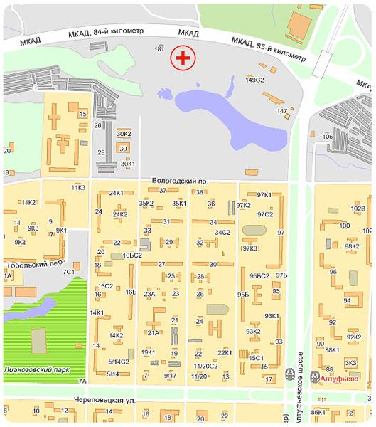 схема места расположения